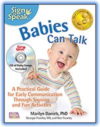 Baby sign language chart.